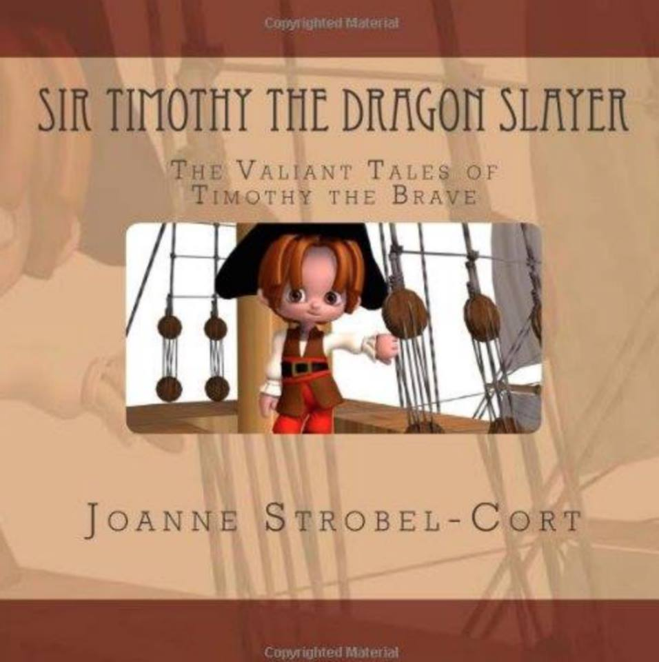"""TRIBUTE #2: Psyched and overjoyed to finally announce a dear friend, author, and colleague of Tim's, Joanne Strobel-Cort, has written and published her 3rd book--this time a children's book titled, """"Sir Timothy The Dragon Slayer: The Valiant Tales of Timothy The Brave"""". It's about a character who teaches us that the power of kindness can slay even the toughest dragon! How cool is this?  #rememberingtim"""