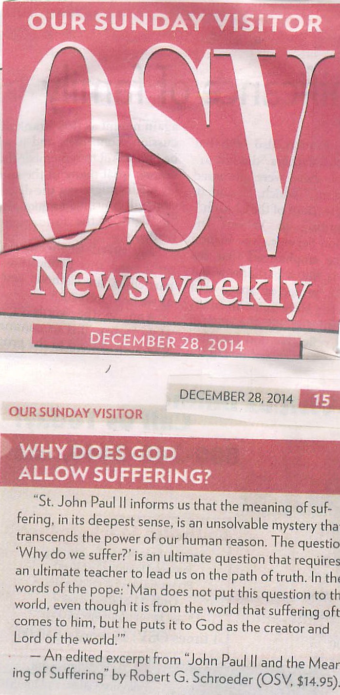 Our Sunday Visitor  Why does God Allow Suffering 2014_12_28.jpg