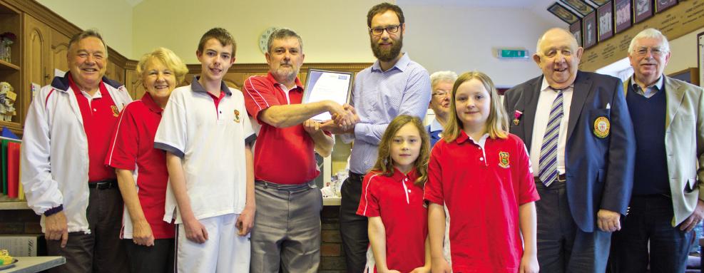 Lindfield Bowling Club - Clubmark Award ceremony