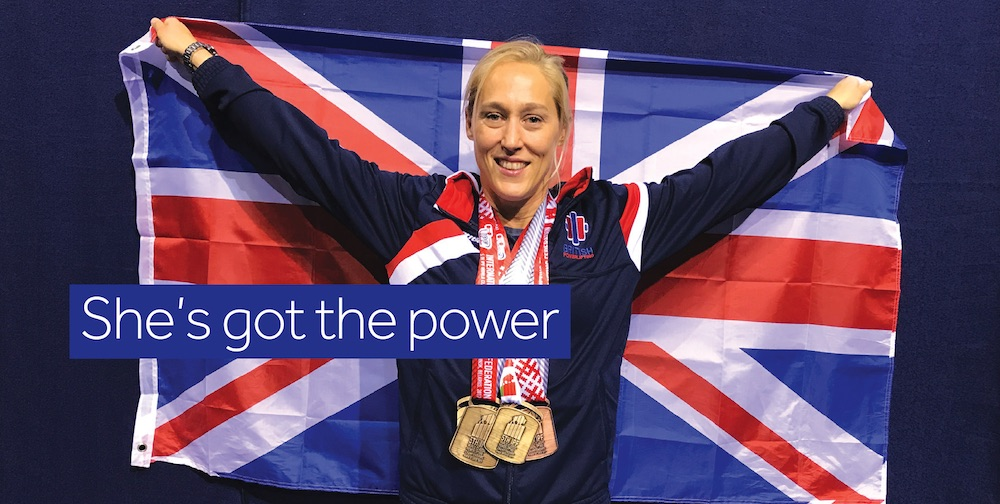 Louise Richardson, power lifter, grew up in Lindfield, West Sussex