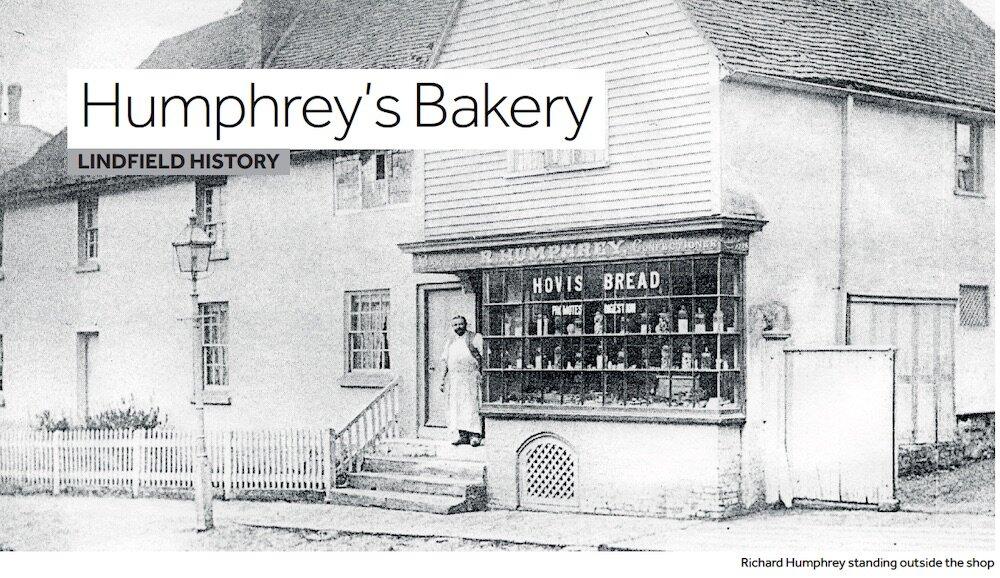 Humphrey's Bakery, Lindfield - Richard Humphrey outside his shop