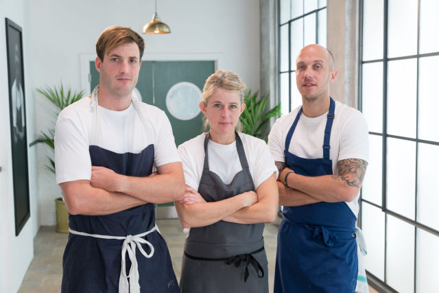 Jo, Emily & Lee ready to compete on Great British Menu representing the South West