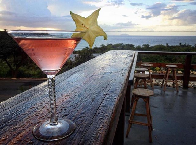 Martini's up on the deck 📷 @idk_mitchh #rincon #puertorico🇵🇷 #starfruit