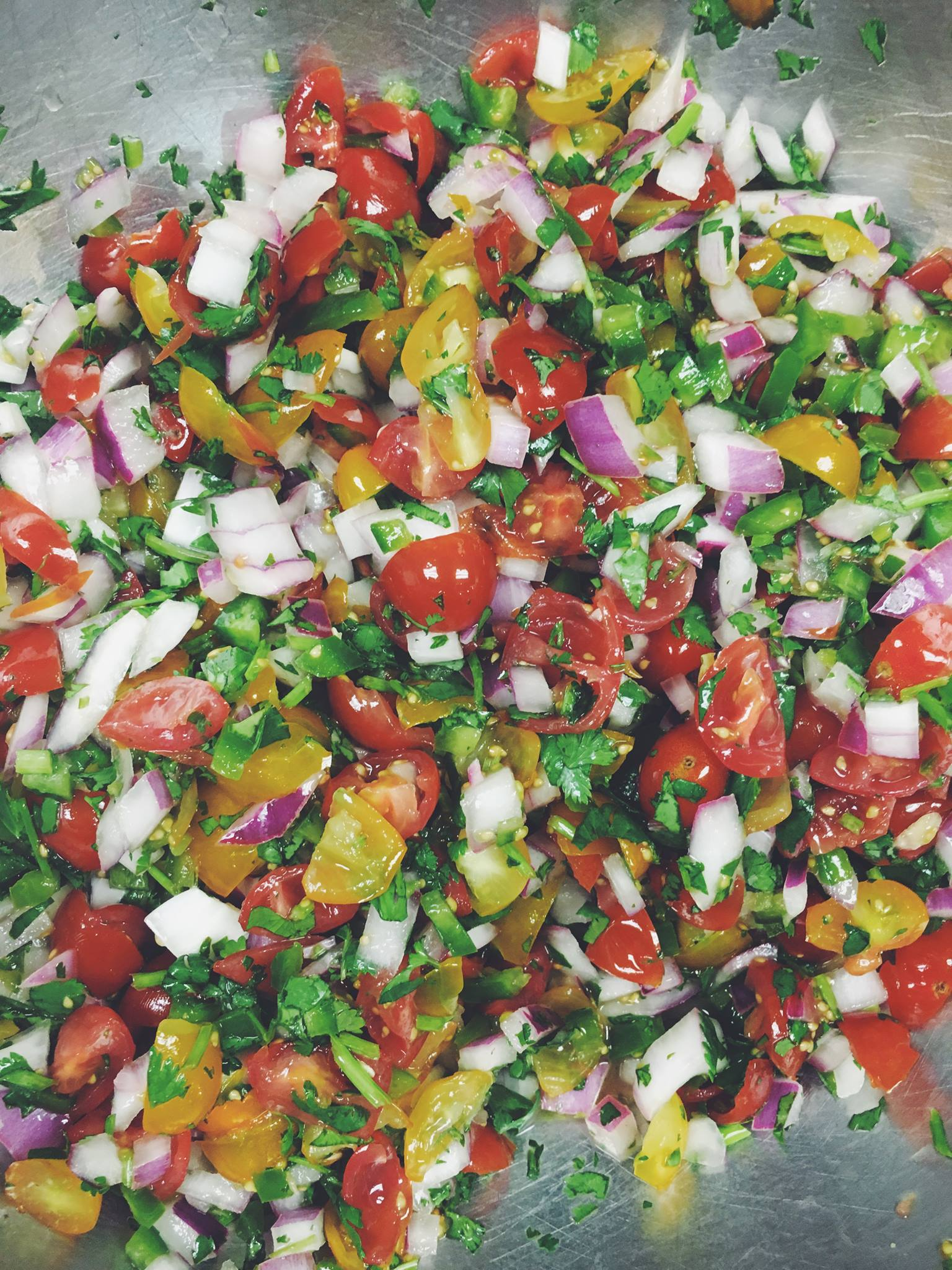 At this time of year, our pico de gallo is the stuff of nacho dreams. The irresistible combo of peak-season tomatoes, shredded slow-roasted pork and pickled jalapeños is a must-have before our kitchen closes for the winter.