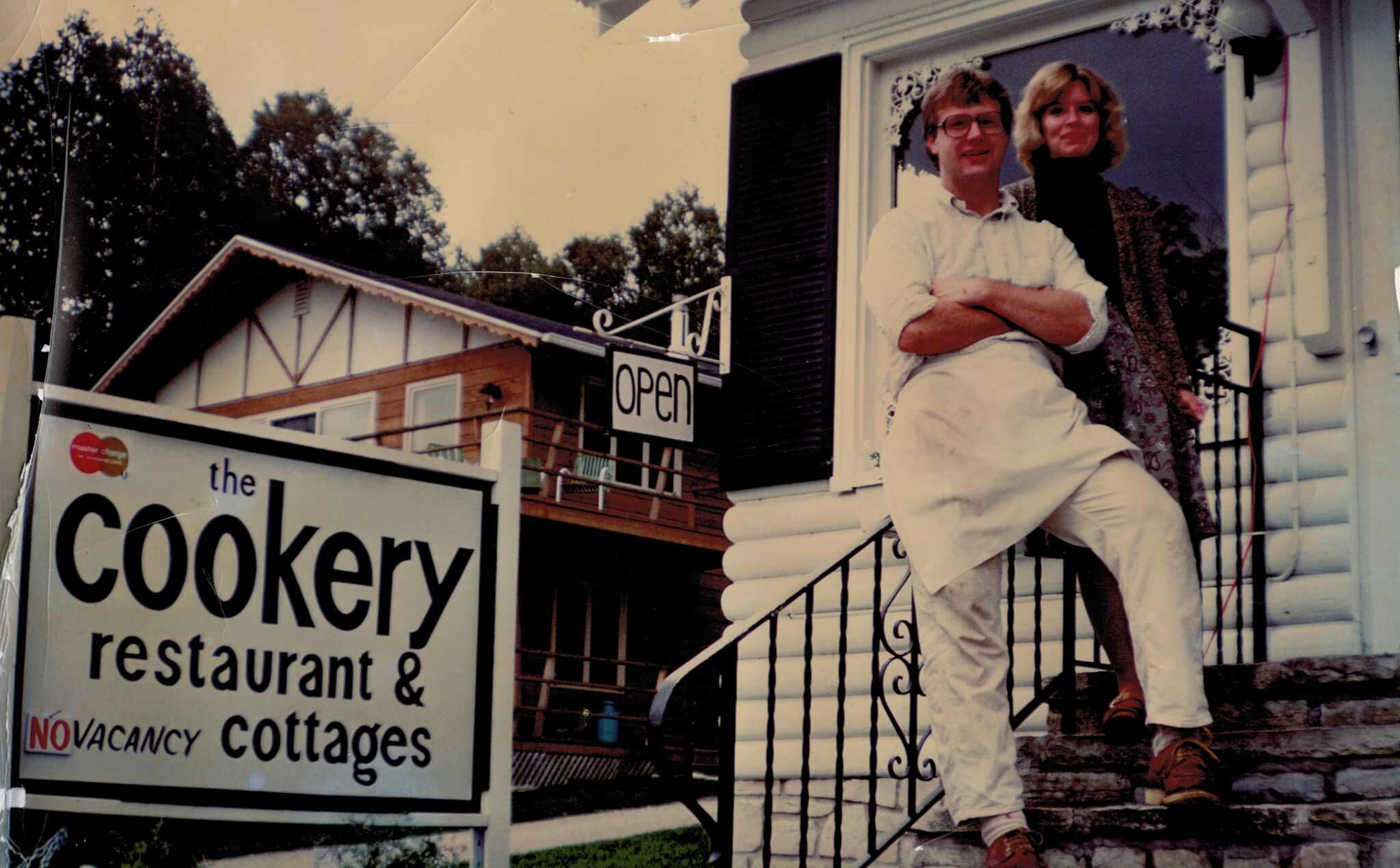 Dick and Carol outside the Cookery.