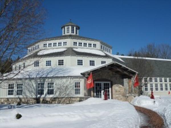 The Peninsula School of Art in winter. photo credit: Teresa Bergen