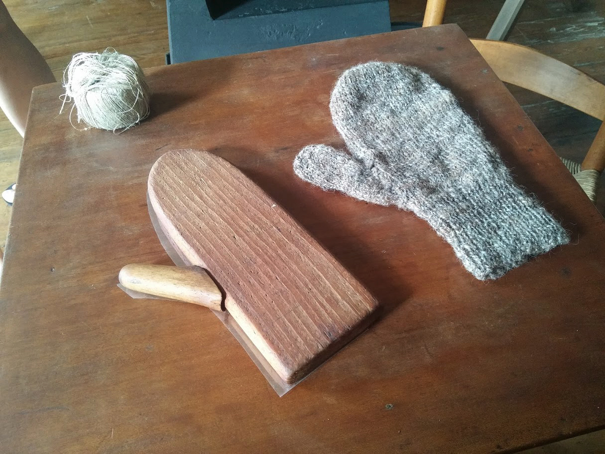 The mitten mold at Hancock Shaker Village that inspired The Hand.