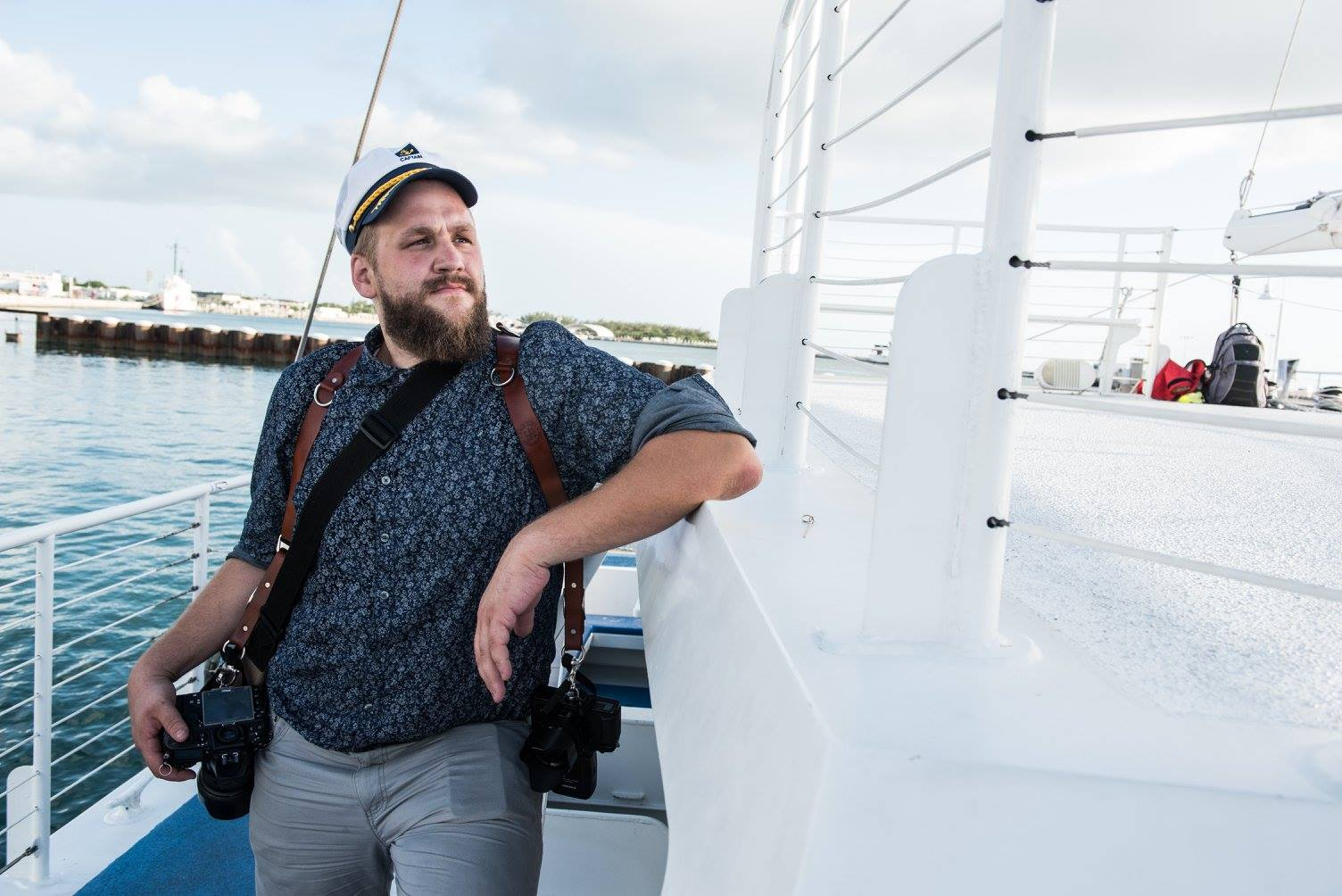 Awesome picture of me as your Party Captain on a boat in Key West.  Also picture of me on the hottest day I've ever experienced.  Sweet photo cred going to Pete Mackey