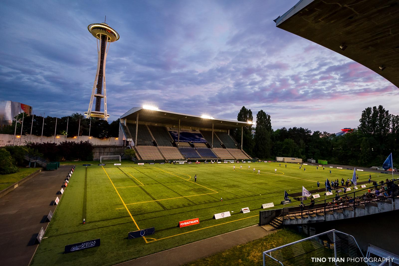 Memorial Stadium has covered seating.
