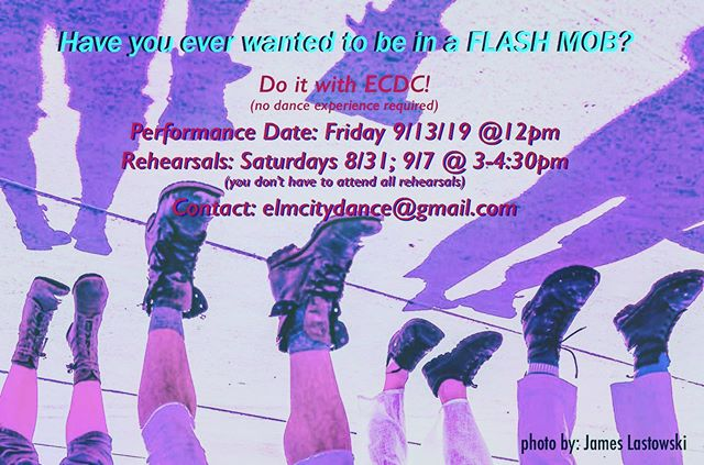 Join us! Contact elmcitydance@gmail.com