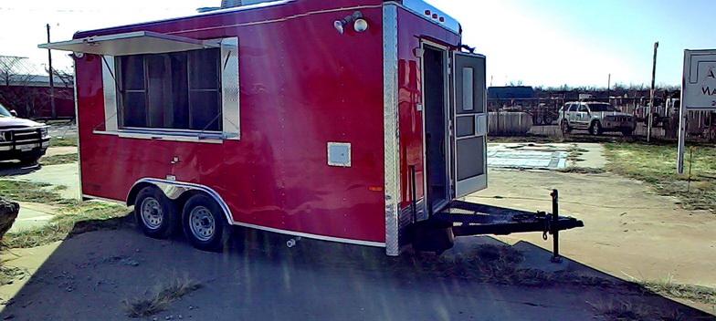 Custom built concession trailer Texas