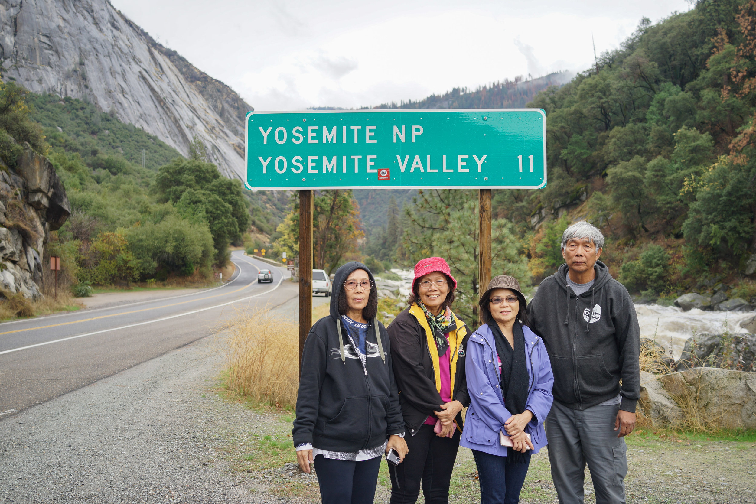 We are heading out from Yosemite.