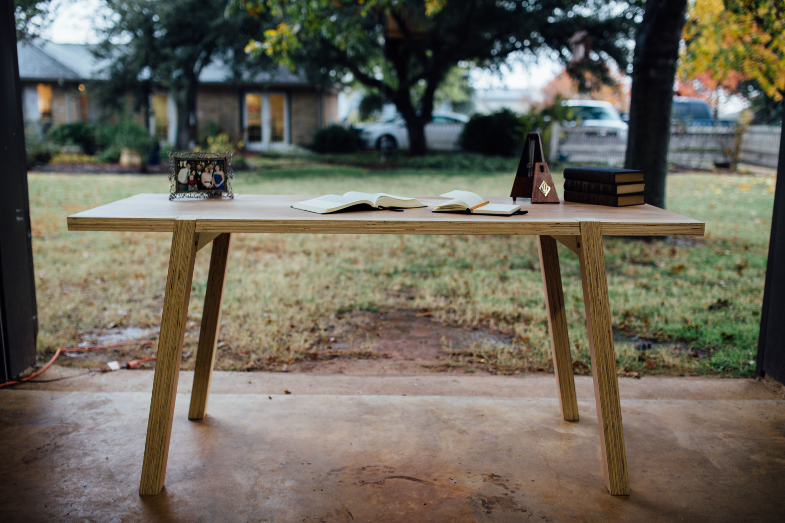 Daniel is selling this beautiful Peacan wood desk for $700.