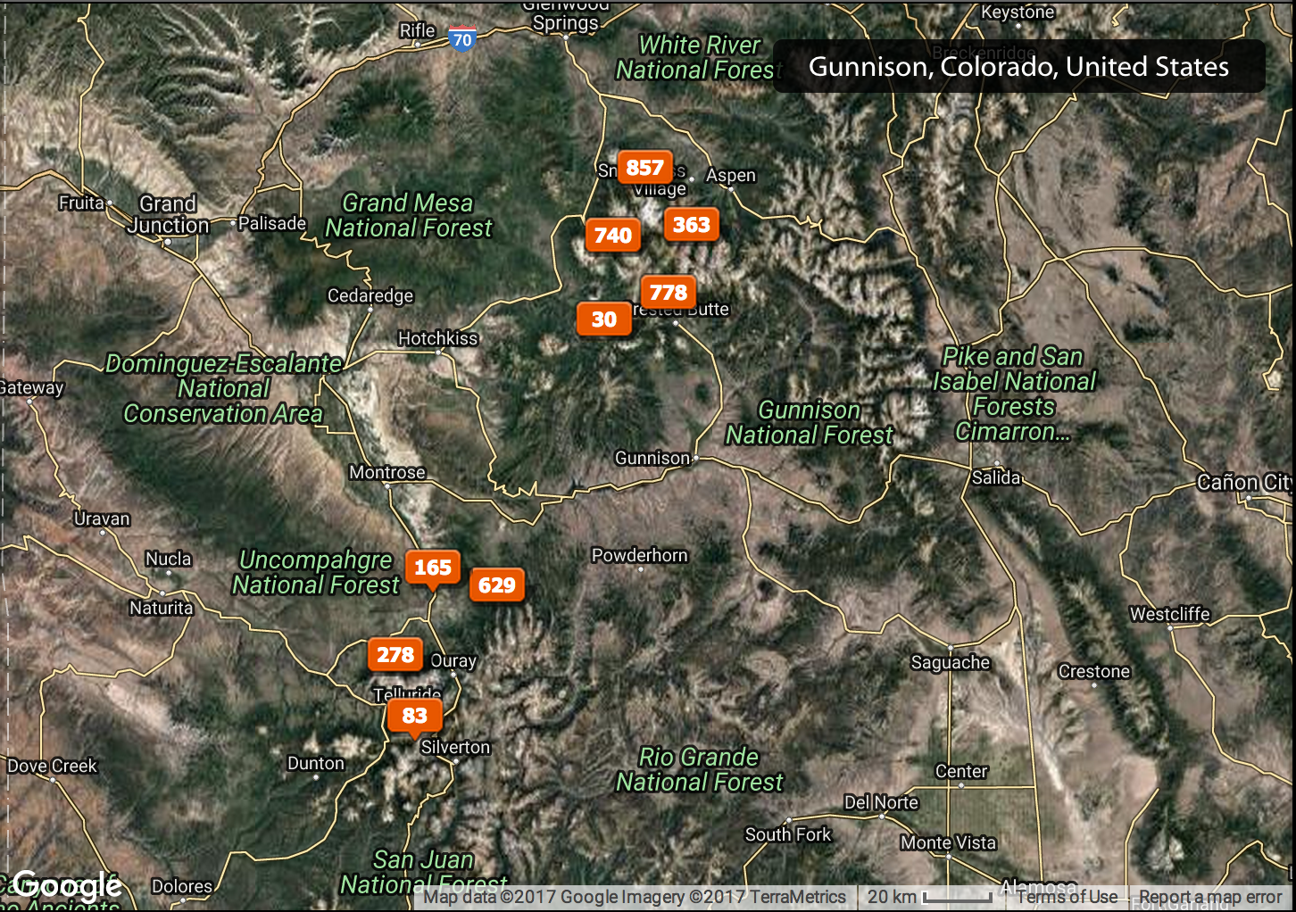 Here is the photography map of this trip.