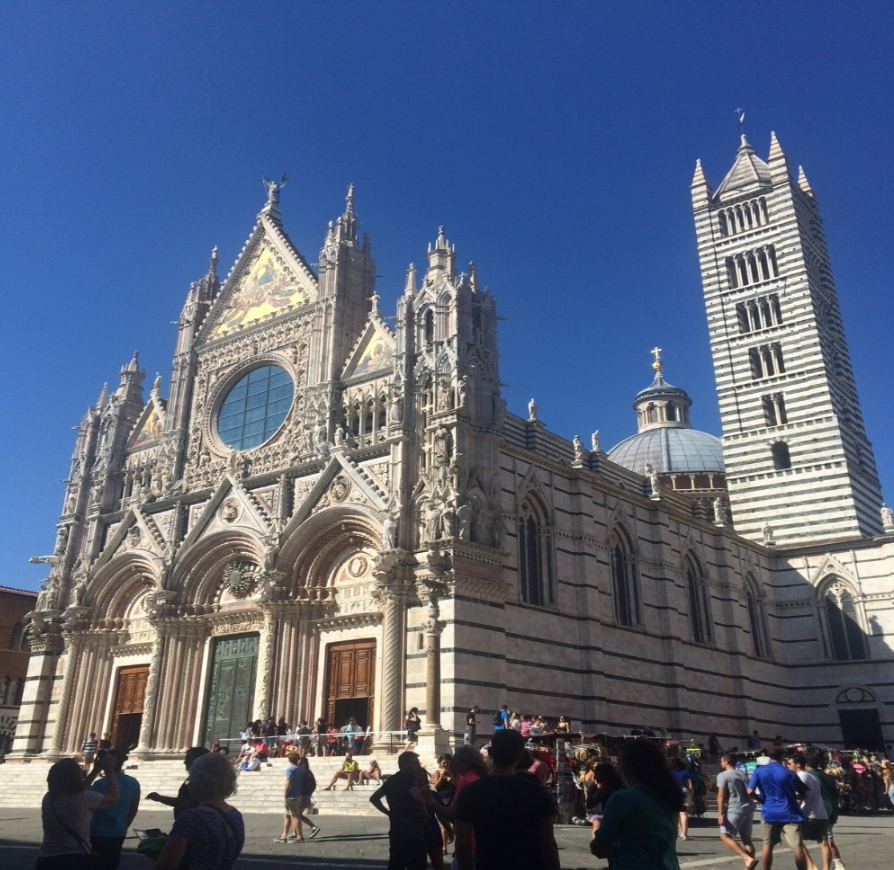 Siena's Duomo.  This picture does not do it justice! It is stunning and massive.