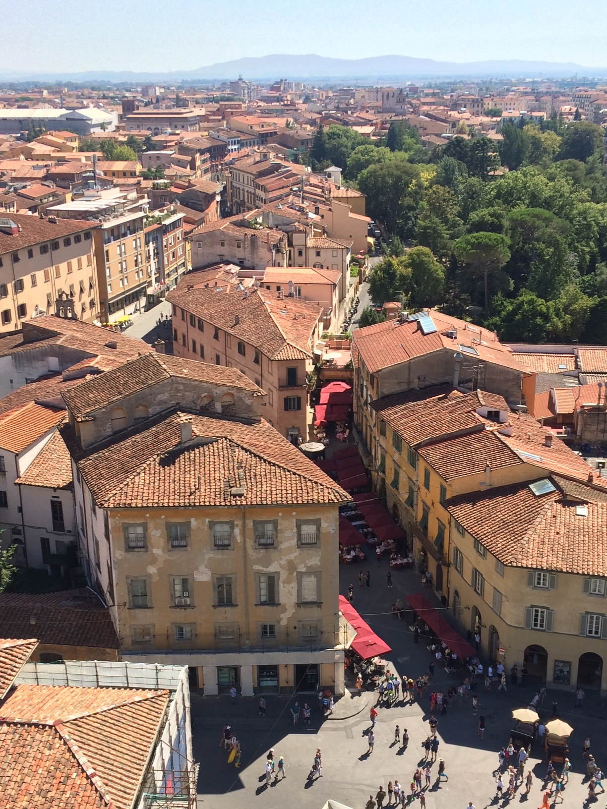 View of Pisa from the leaning tower