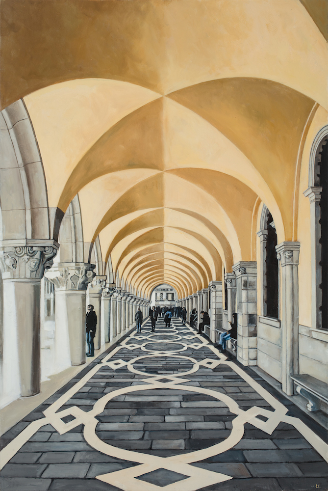 ARCHES, oil on canvas, 2015…one of the many originals available at the show.