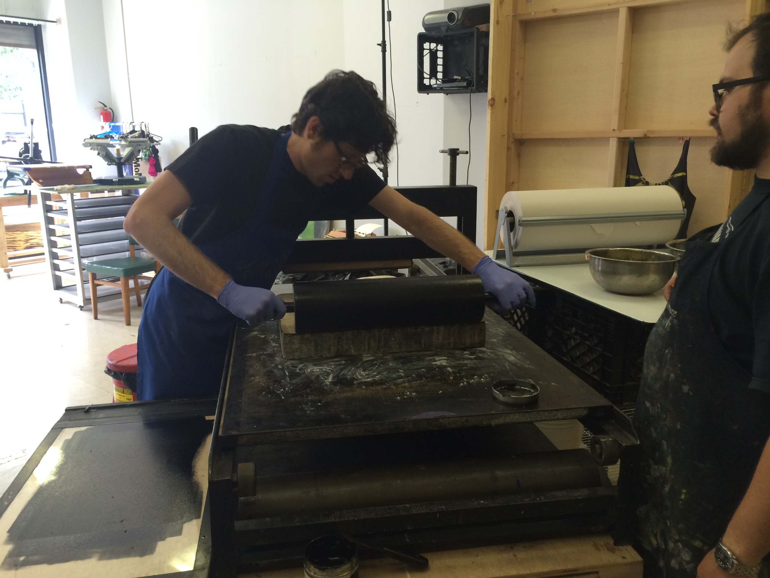 One-on-one Lithography Tutorial at Shoestring Press