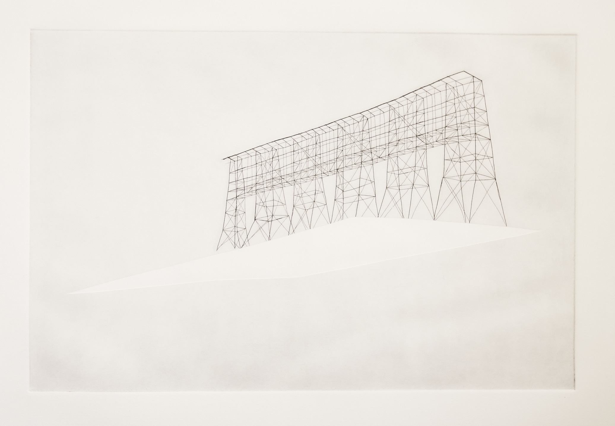 Heidi Neilson, Roofs 16, From the N, 2005