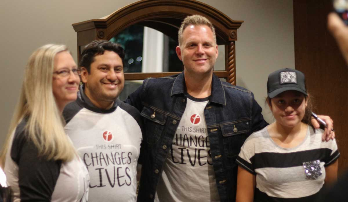 Team Hope members take an opportunity to get a picture with Matthew West at a recent event.  Photo by Elyse Nicholson