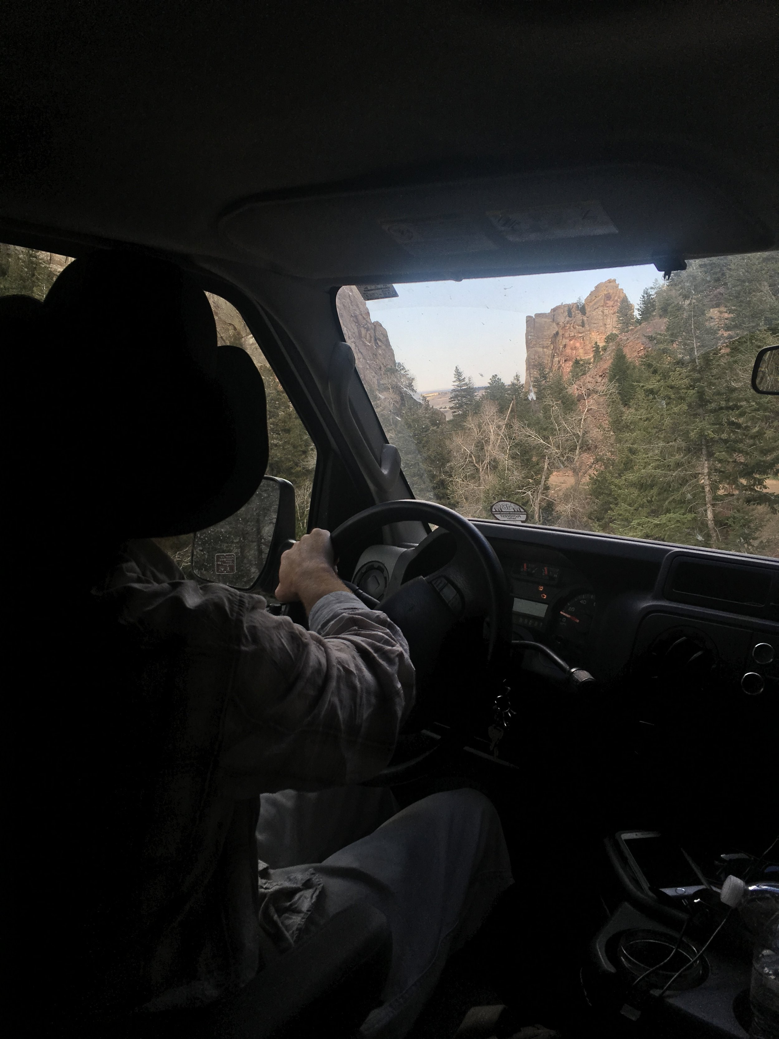 Cruisin' around in Colorado, checkin' out the sights