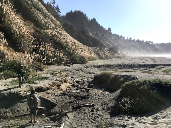 Nick and Chuck dig the scene in Trinidad, CA