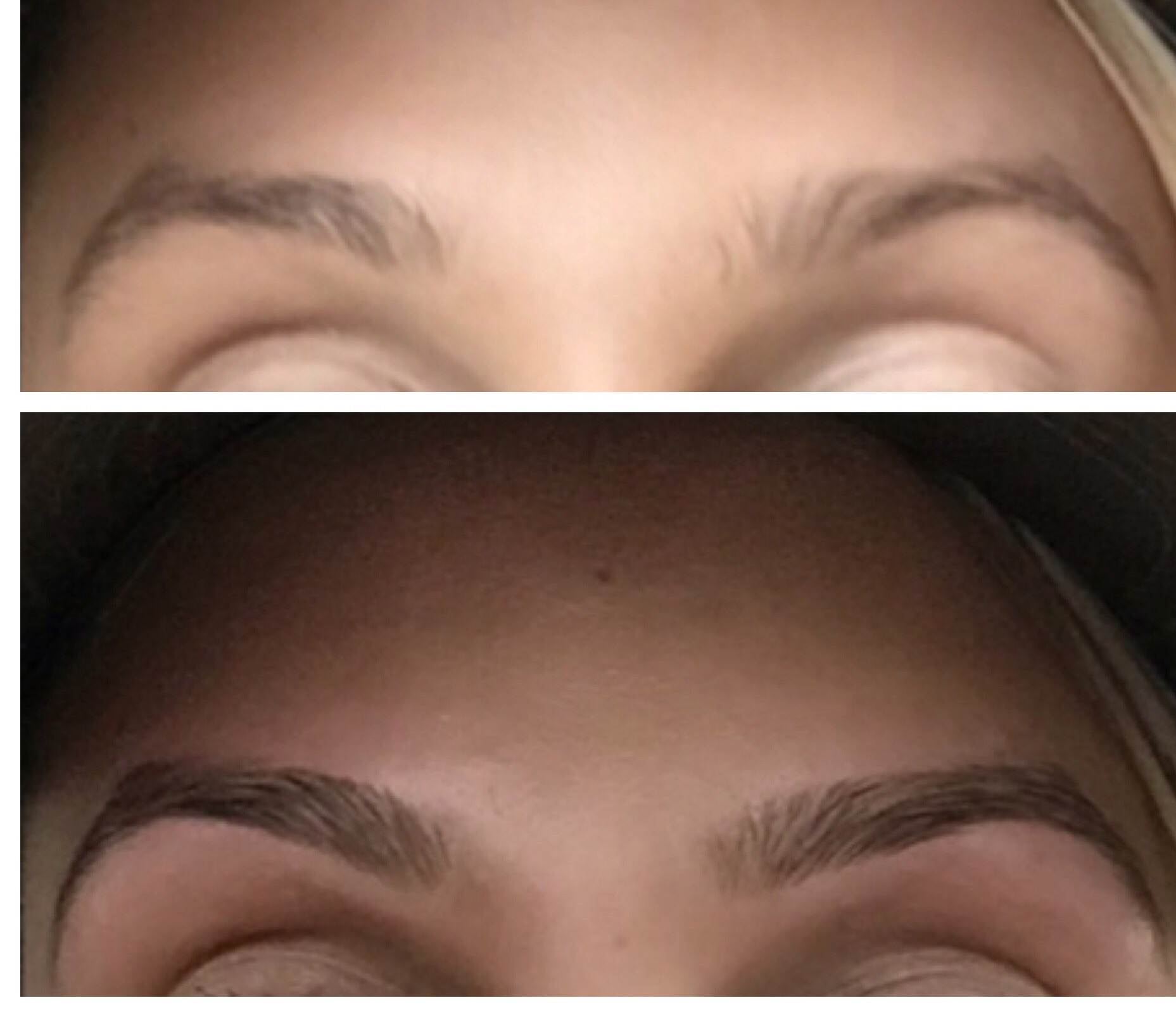 Eyebrows- Before and After.