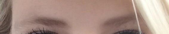 Eyebrows before.