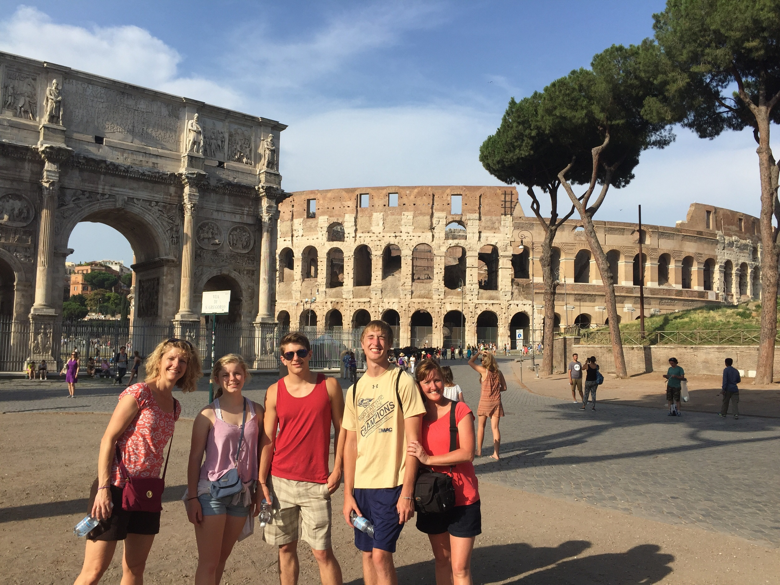 The family at Arch of Titus