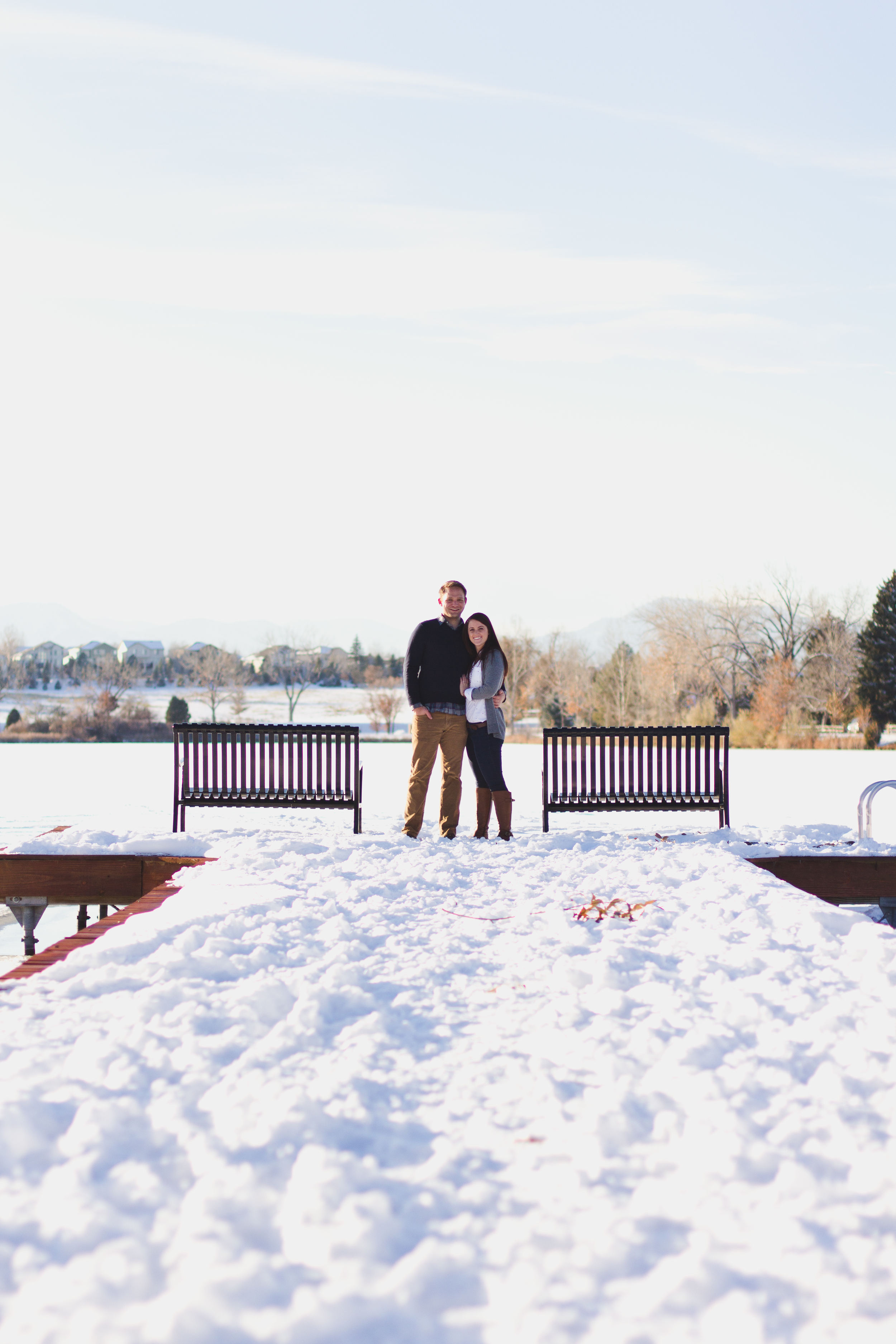 Colorado winter engagment pictures