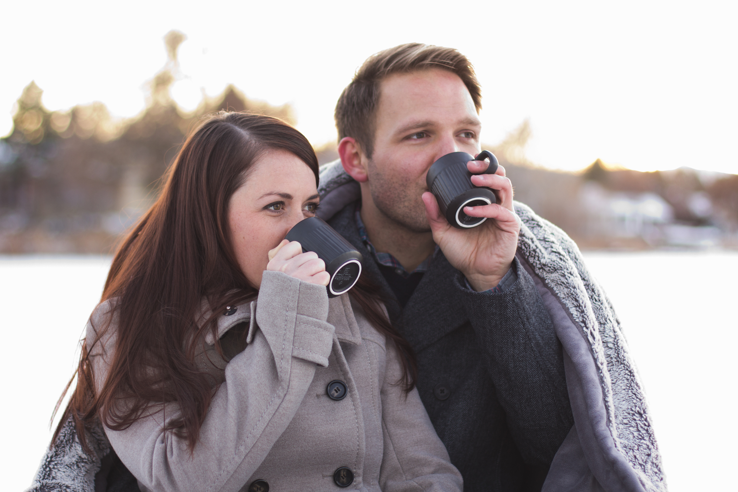 couple drinking hot chocolate