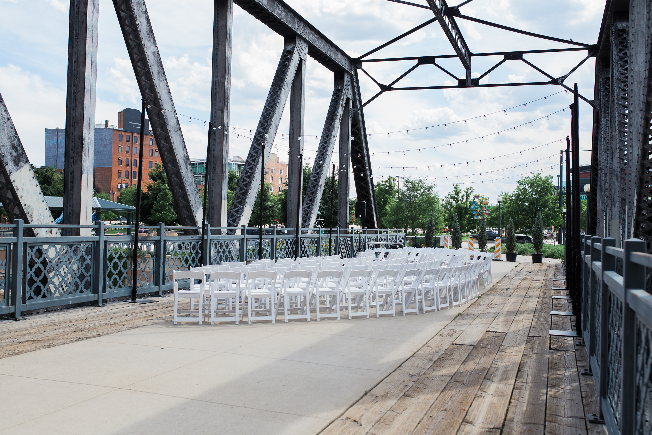 Coohills, Denver wedding setup