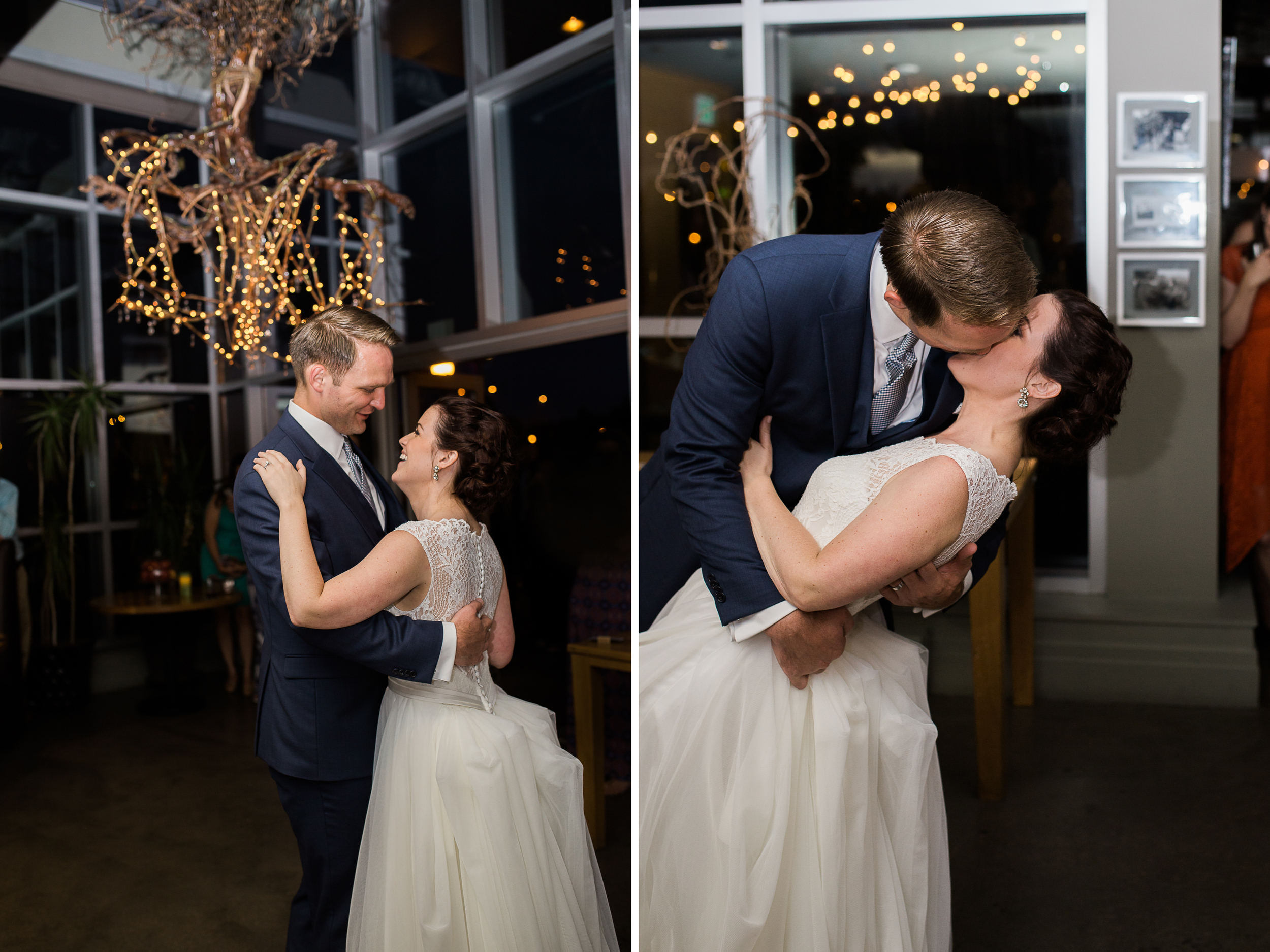 Coohills Wedding Photographer - first dance inside Coohills at night