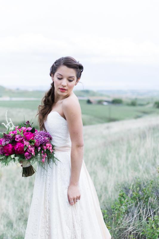 Colorado Mountain Wedding Photographer - Mountain bridal shoot