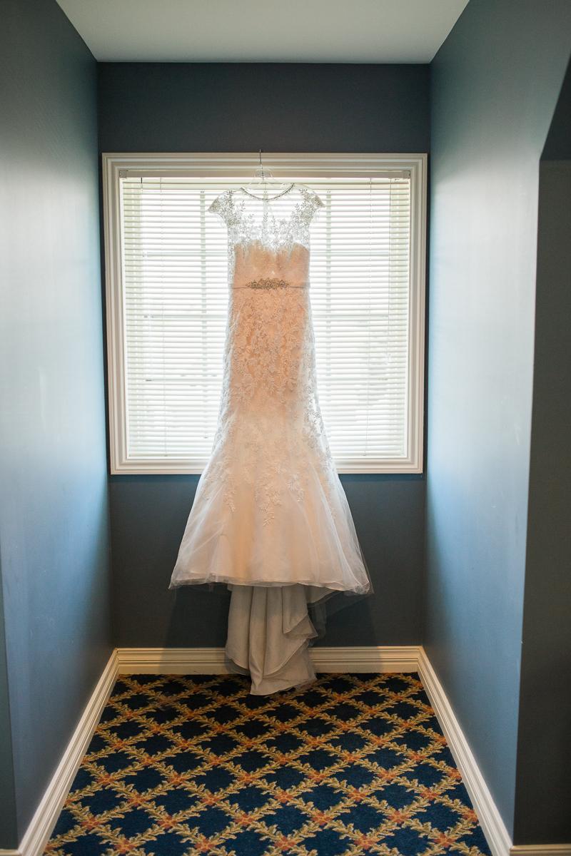 Omaha Nebraska UNO wedding - wedding gown