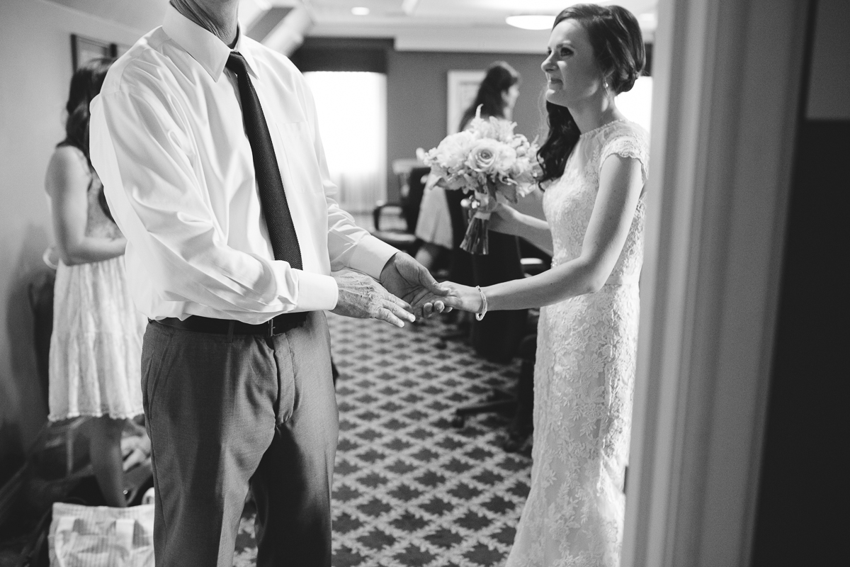 father daughter moment in Omaha - wedding photographer