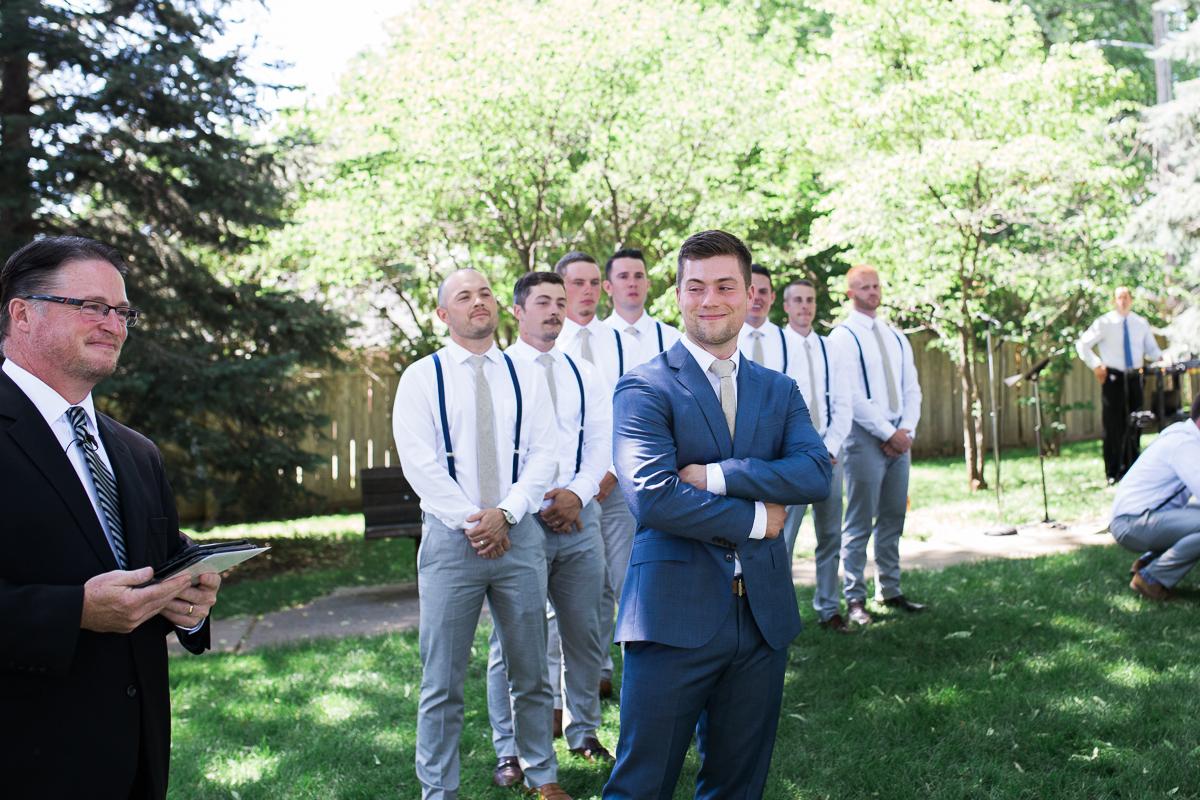 happy colorado groom