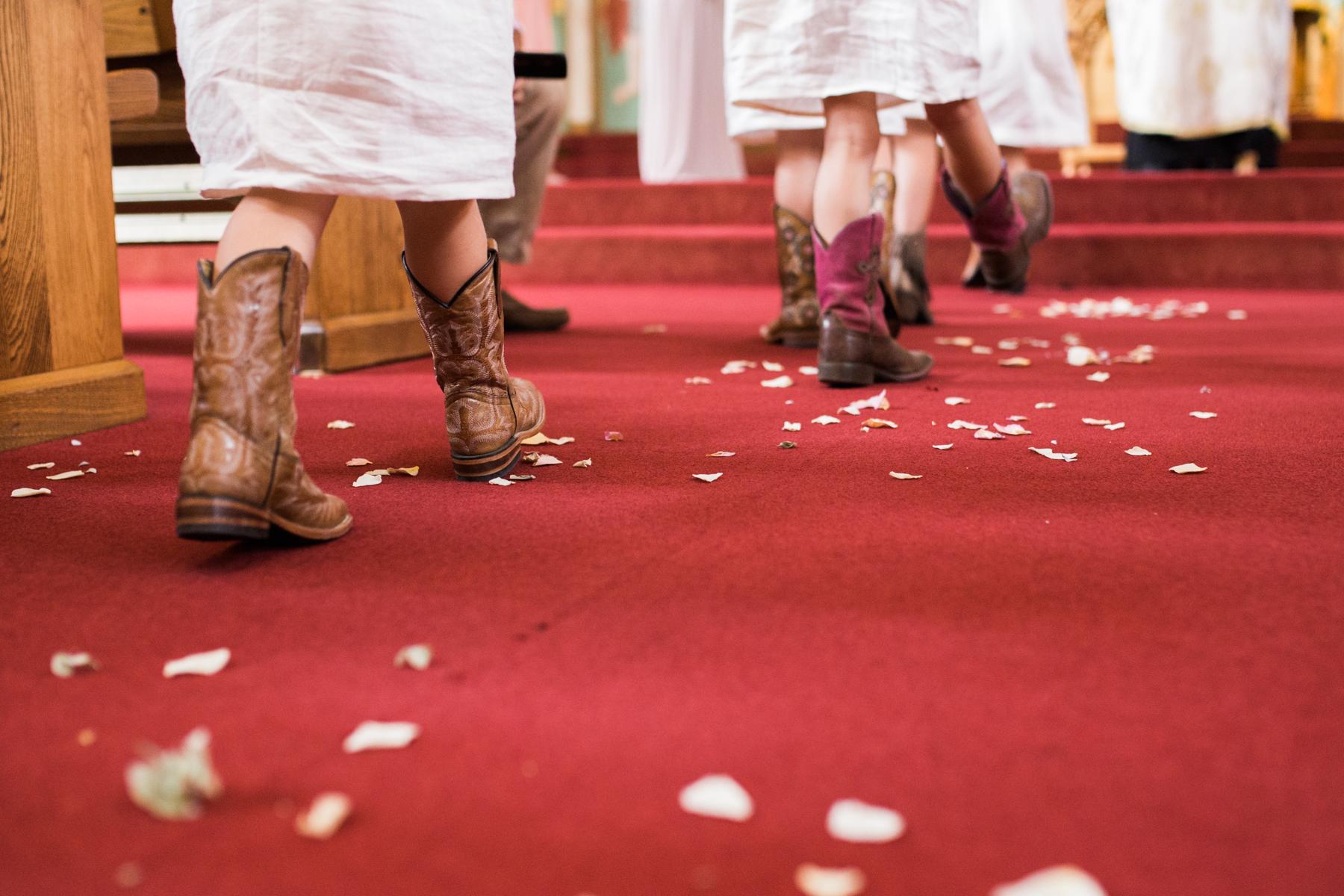 flowergirl boots