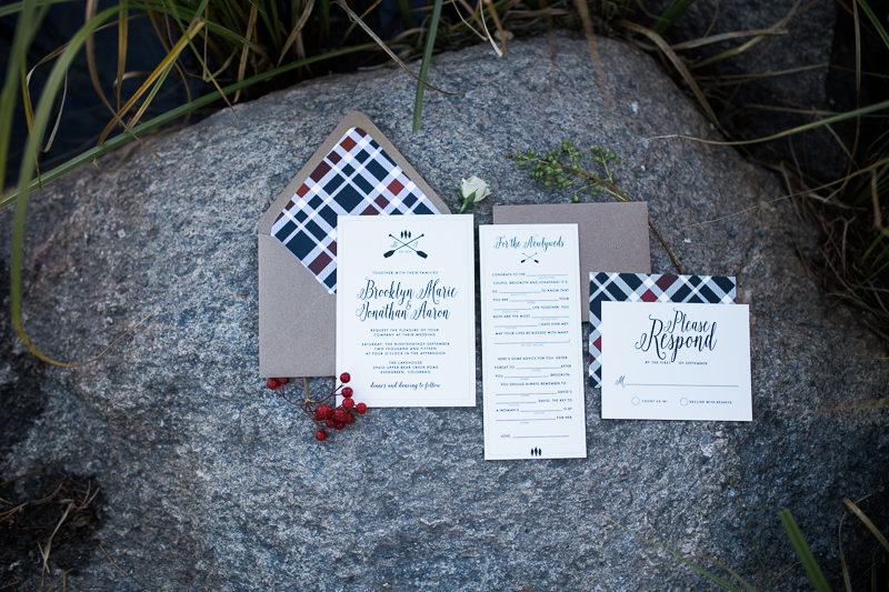 colorado mountain wedding invitations