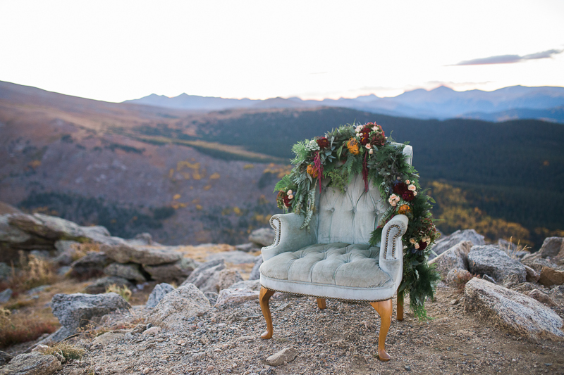 mountain top bridal pictures