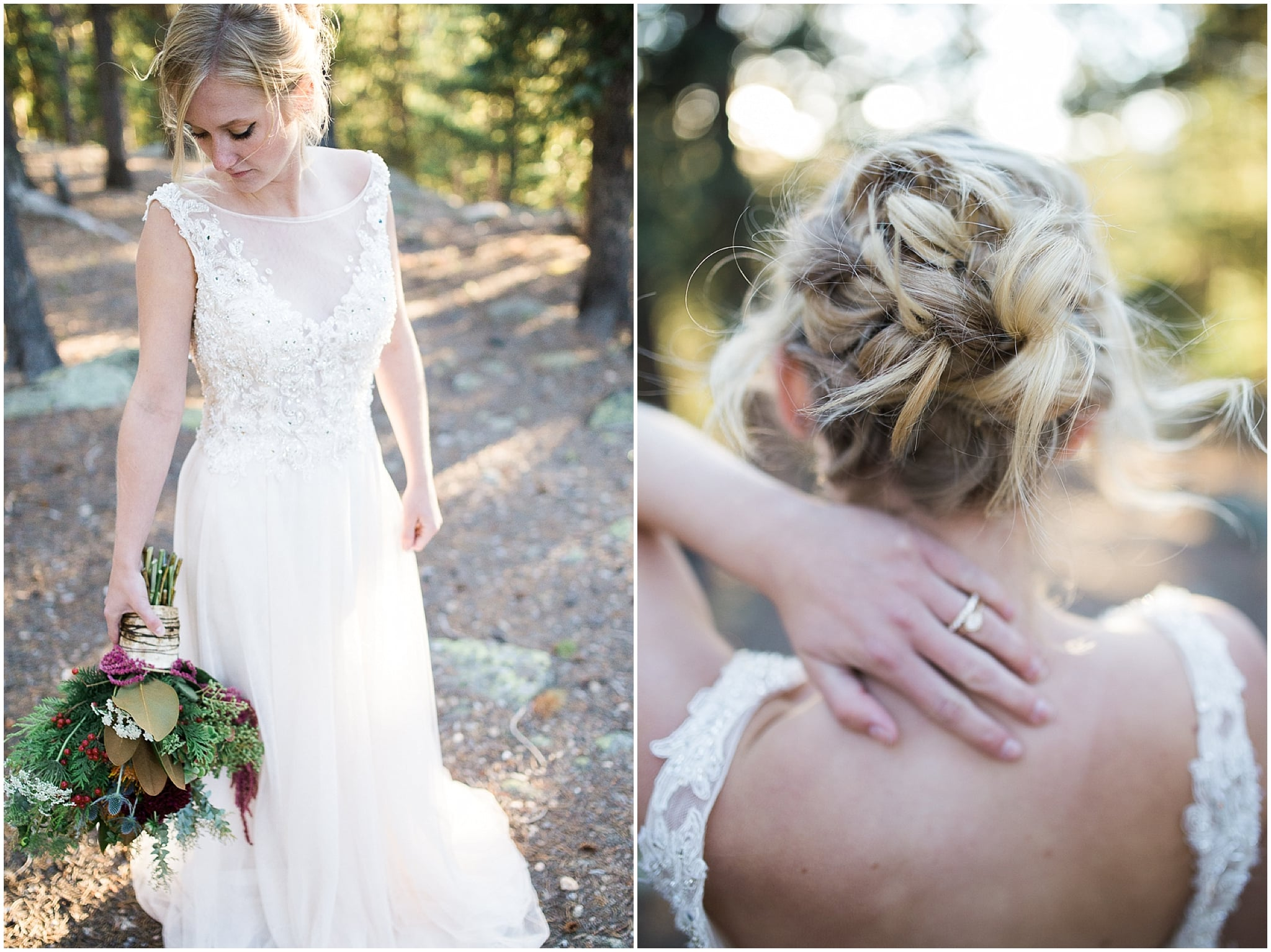 Colorado Mountain Wedding Photographer - gorgeous mountain bridal hair