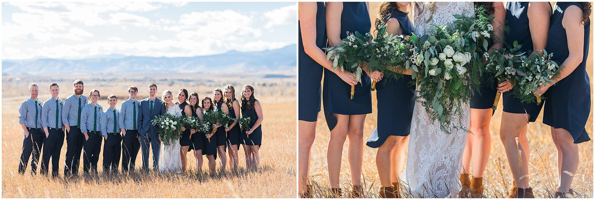 navy blue Colorado bridal party