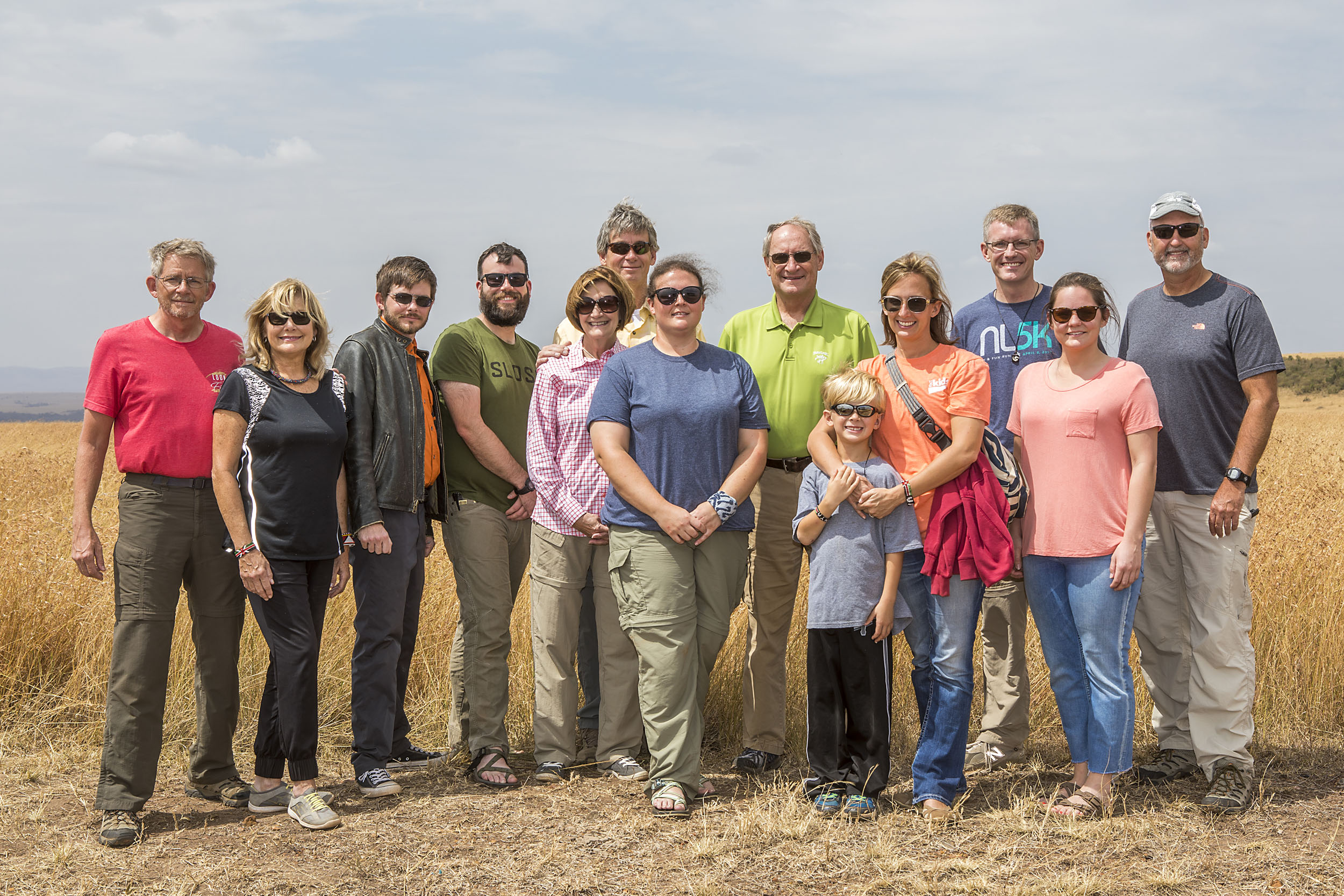 (L to R) Robin and Rhonda Taylor, Chris Taylor, Ryan Strickland, Becky and Carl Grimmett, Erin Hamer, Roger Crew, Hudson, Becky and Dr. Jeremy Rogers, Nicole Jessen, Ron Burkett