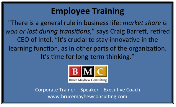 Employee Training is crucial to stay innovative .