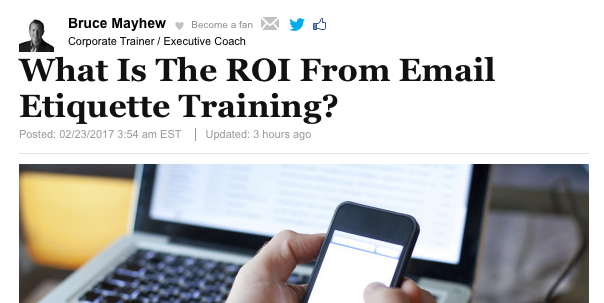Email Etiquette Training can give more than 6 extra days of productivity per year.