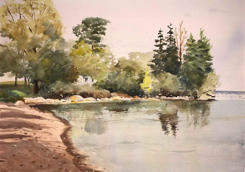 Summer Day at Pultneyville,   Gilbert Jordan