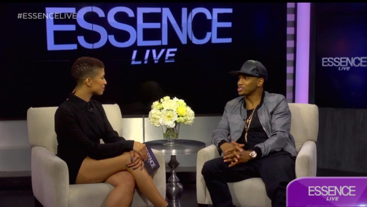 Dana interviewing Trey Songz on Essence Live