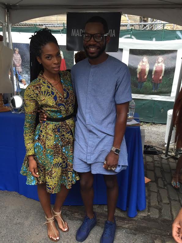 Reuben Reuel -Designer and owner of Demestiks NY. I'm wearing one of his beautiful dresses.