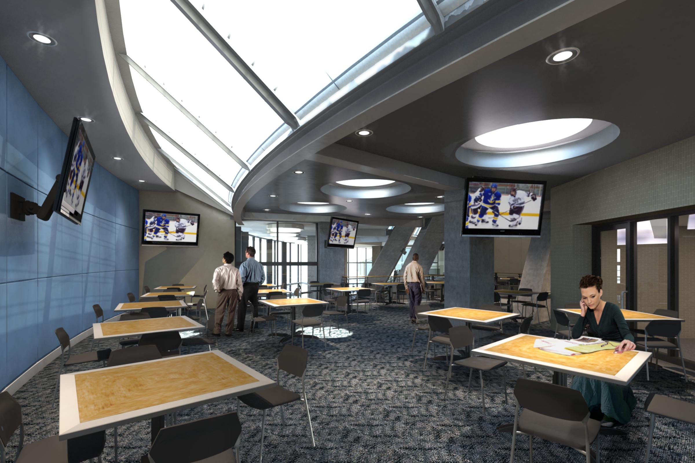 LSSU - Norris Center:  2nd floor lounge