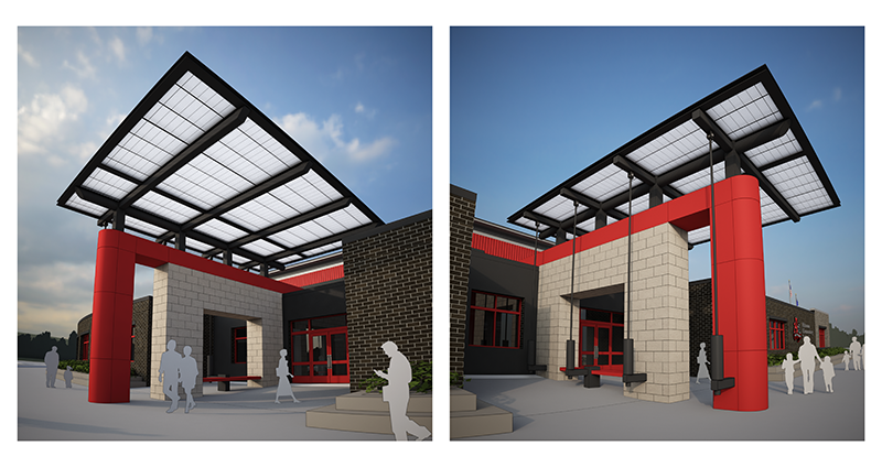 The new proposed canopy design.
